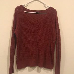 Burgundy American Eagle Sweater